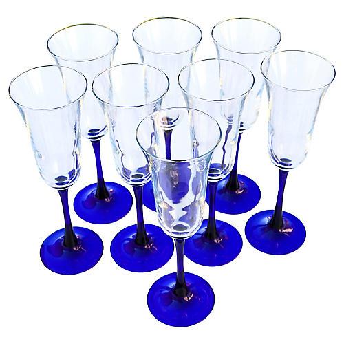 Champagne Glasses, S/8