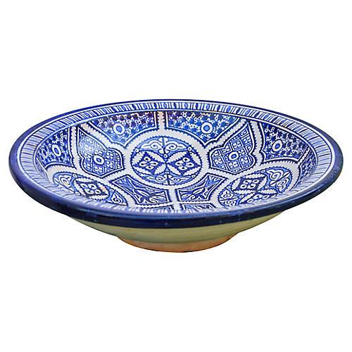 Ceramic Bowl w/ Fine Arabesque Pattern