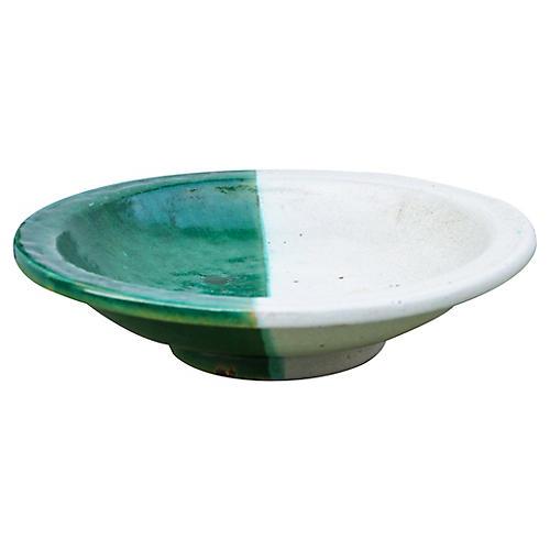 Moroccan Ceramic Plate w/ Ornate Design