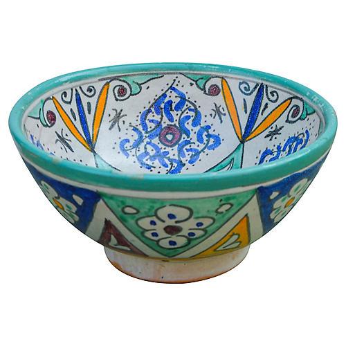 Moorish-Patterned Ceramic Bowl