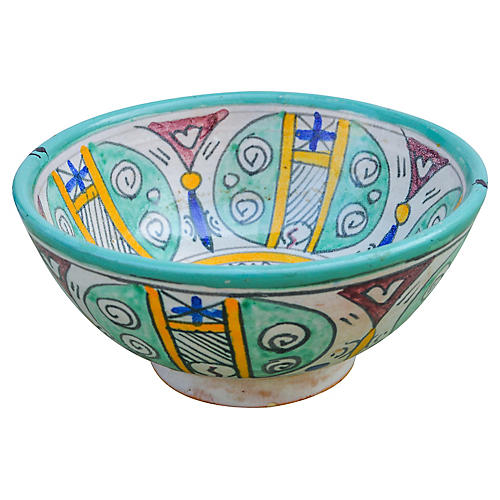 Afro-Moresque Ceramic Bowl