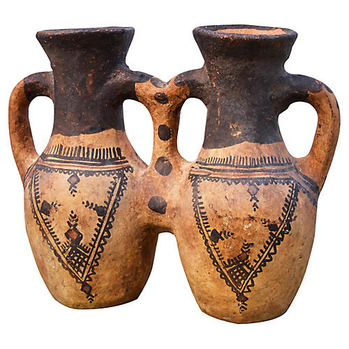 Moroccan Water Vessel w/ Berber Tattoos