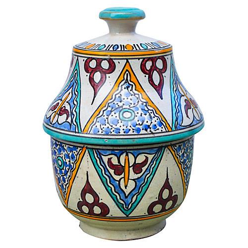 Moorish Ceramic Box w/ Ornate Pattern