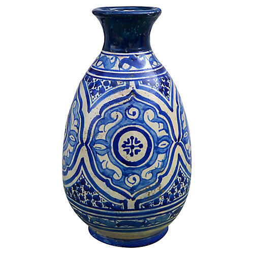 Blue Moorish Ceramic Vase
