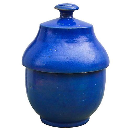 Blue Ceramic Lidded Bowl