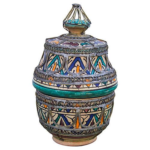 Moroccan Ceramic Box