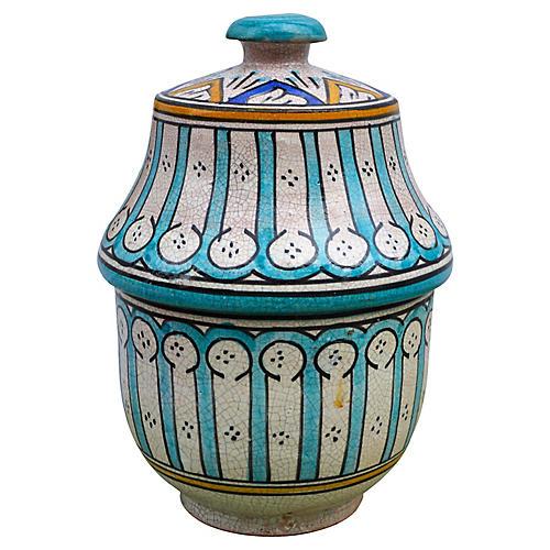 Antique Andalusian Ceramic Box