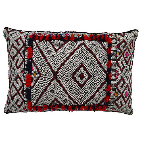 Moroccan Pillow w/ Ornate Berber Design