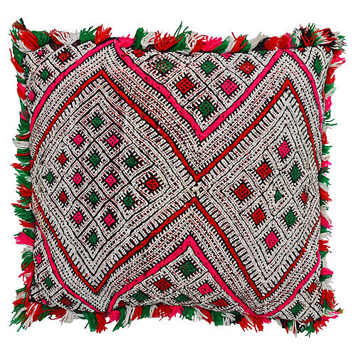Moroccan Pillow w/ Pink Diamonds