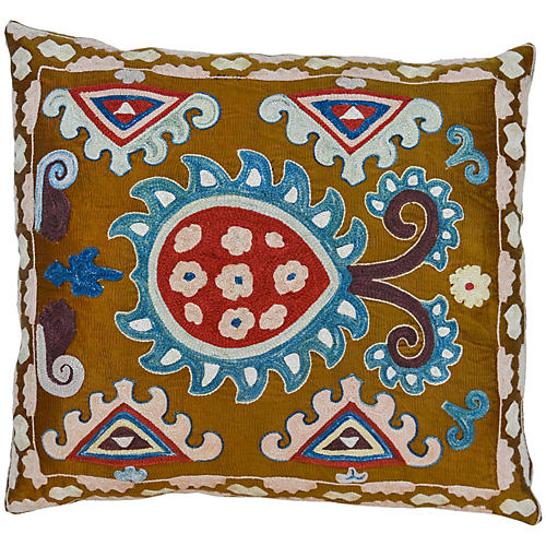 Boho Pillow w/ Intricate Pattern