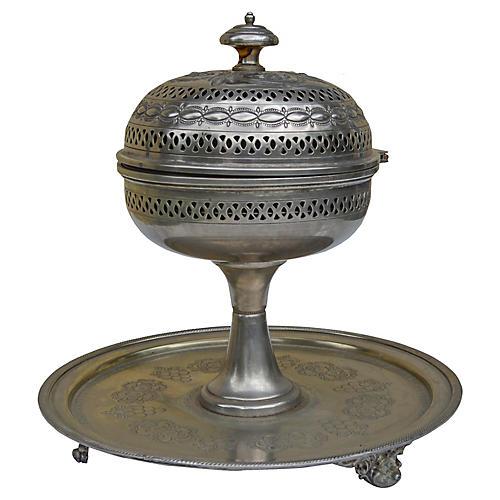 Engraved Moorish Incense Burner