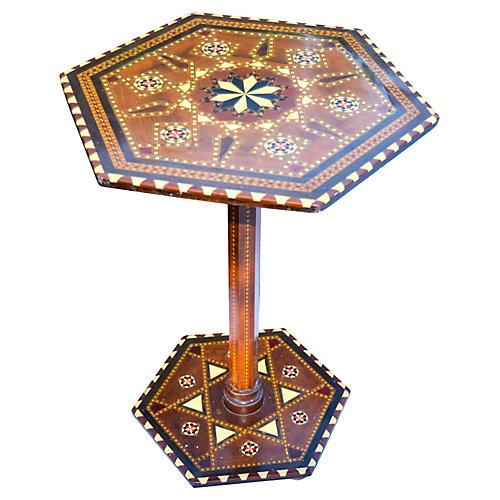 Moorish Table w/ Fine Inlay and Motif