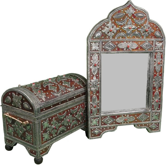 Handmade Moroccan Mirror & Chest