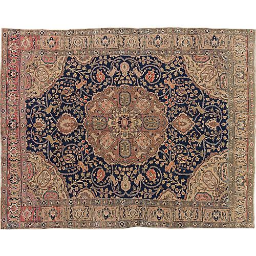 Antique Tabriz Carpet, 9' x 12'