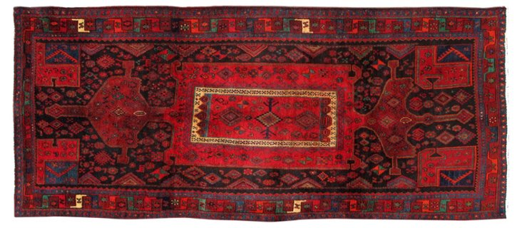 "Antique Persian Bijar, 3'10"" x 9'4"""