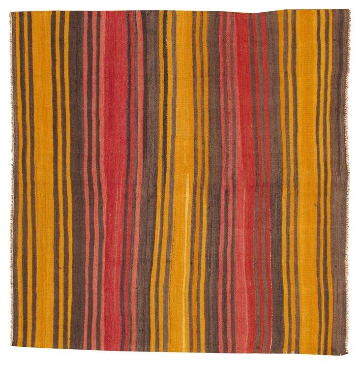 Striped Kilim, 5' x 5'