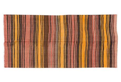 Striped Kilim, 4'9'' x 9'8''