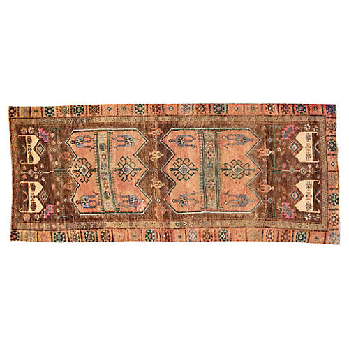 "Antique Kurdish Rug, 4'3"" x 10'1"""