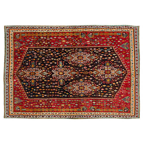 "Persian Shiraz Rug, 5'6"" x 8'3"""