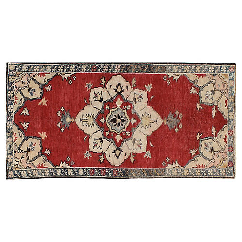 "Turkish Oushak Rug, 2'7"" x 5'3"""