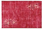 "Red Overdyed Rug, 6'4"" x 9'3"""