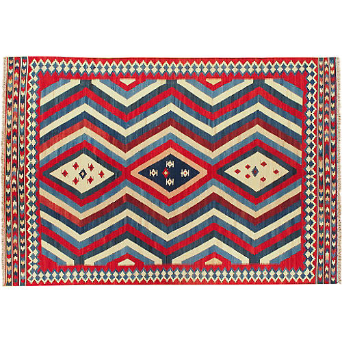 "Turkish Kilim, 5'10"" x 8'8"""