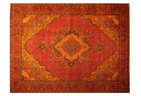 Overdyed Tabriz Carpet, 10'4'' x 12'10''