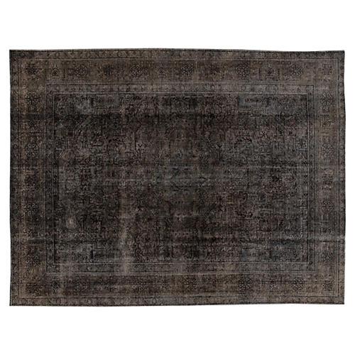 "Overdyed Tabriz Carpet, 9'9"" x 12'7''"