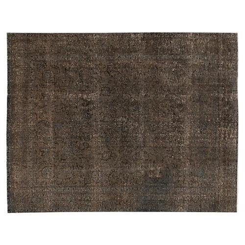Overdyed Tabriz Carpet, 9'5'' x 12'6''