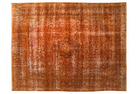 Overdyed Tabriz Carpet,  9'9'' x 12'6''