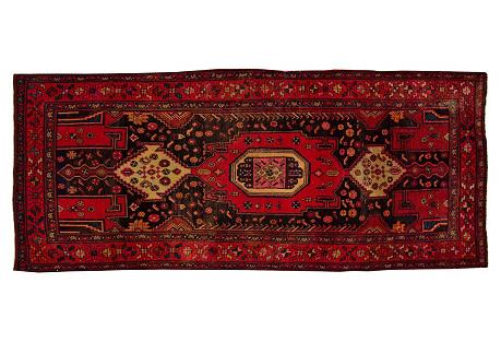 Antique Persian Bidjar, 3'9'' x 9'3''