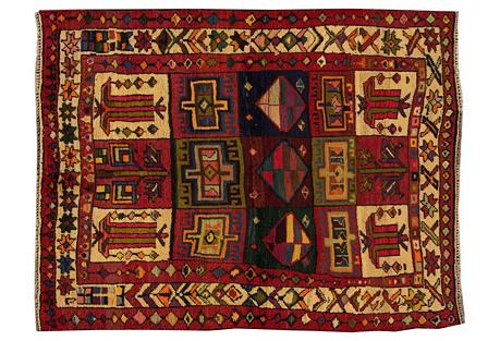 Persian Shiraz Rug, 4'11'' x 6'5''