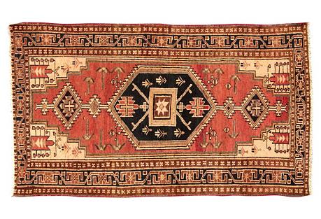 Persian Hamadan Rug, 3'9