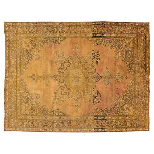 "Overdyed Tabriz Carpet, 9'5"" x 12'8"""