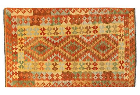 Afghan Kilim, 4' x 6'7