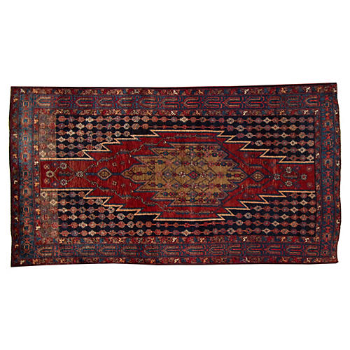 "Antique Persian Rug, 4'4"" x 8'1"""