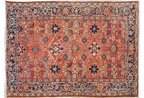 Persian Heriz Rug, 7'1