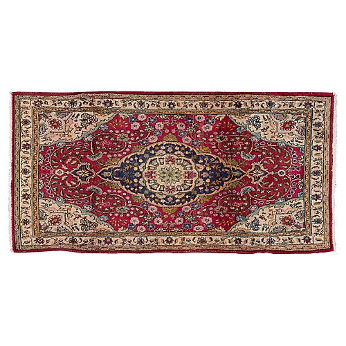"Vintage Persian Rug, 3'2"" x 6'3"""