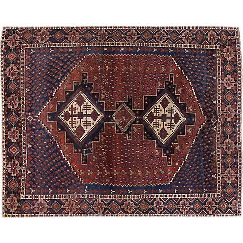 "Vintage Shiraz Rug, 4'6"" x 5'10"""