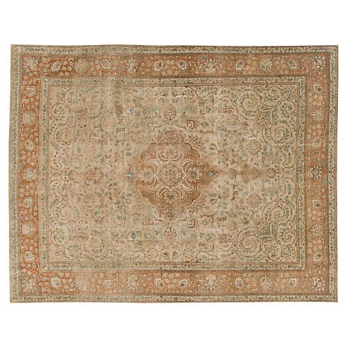 "Vintage Persian Tabriz, 9'11"" x 12'10"""