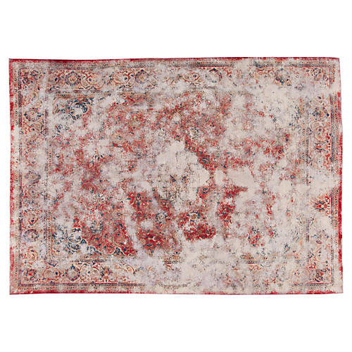 "Red Overdyed Carpet, 9'7"" x 12'10"""
