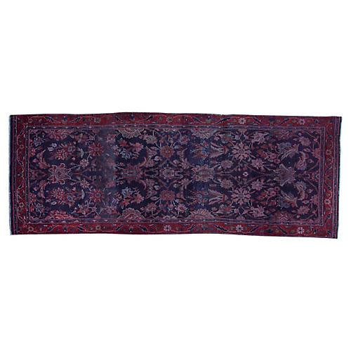 "Persian Overdyed Rug, 3'3"" x 9'2"""