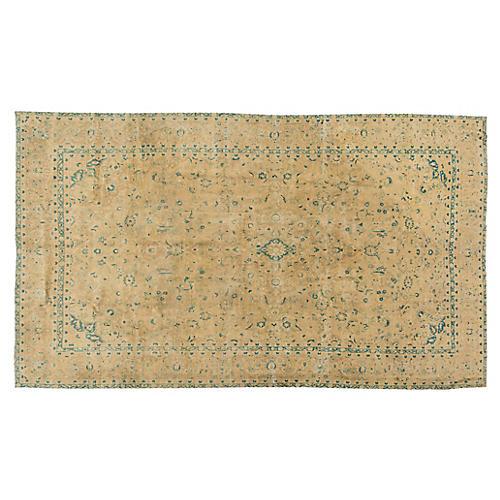 "Antique Tabriz Rug, 9' x 15'5"""