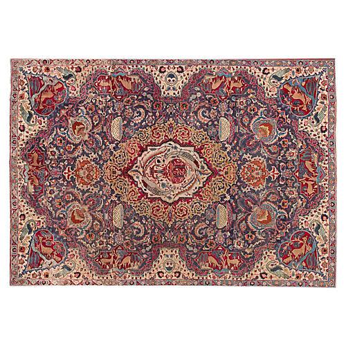 """Persian Tabriz Rug, 7'2"""" x 10'3"""""""
