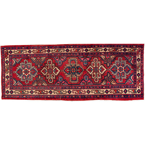 "Persian Hamadan Rug, 3'6"" x 9'3"""