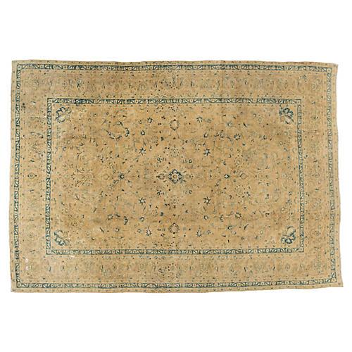 "Persian Tabriz Carpet, 9'6"" x 13'6"""