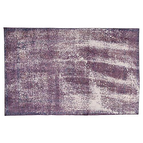 "Distressed Purple Rug, 7'10"" x 12'3"""