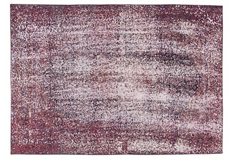 Distressed Purple Rug, 7'3