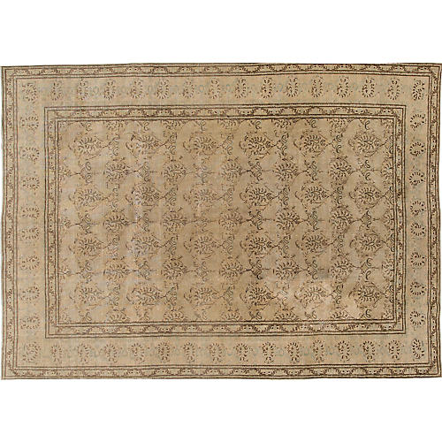 "Antique Tabriz Rug, 8'7"" x 11'9"""