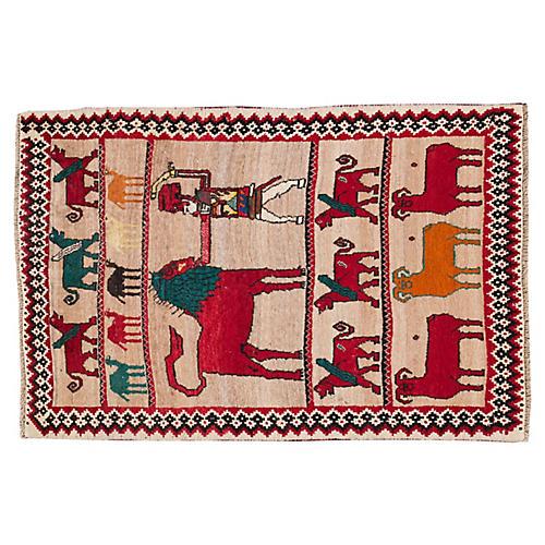 "Persian Gabbeh Rug, 3'8"" x 5'3"""